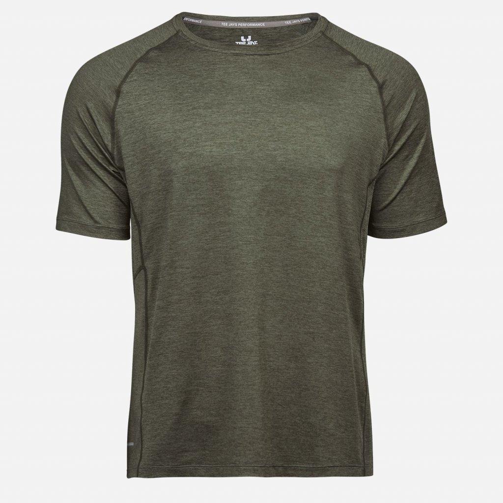 Olivovo zelené športové tričko