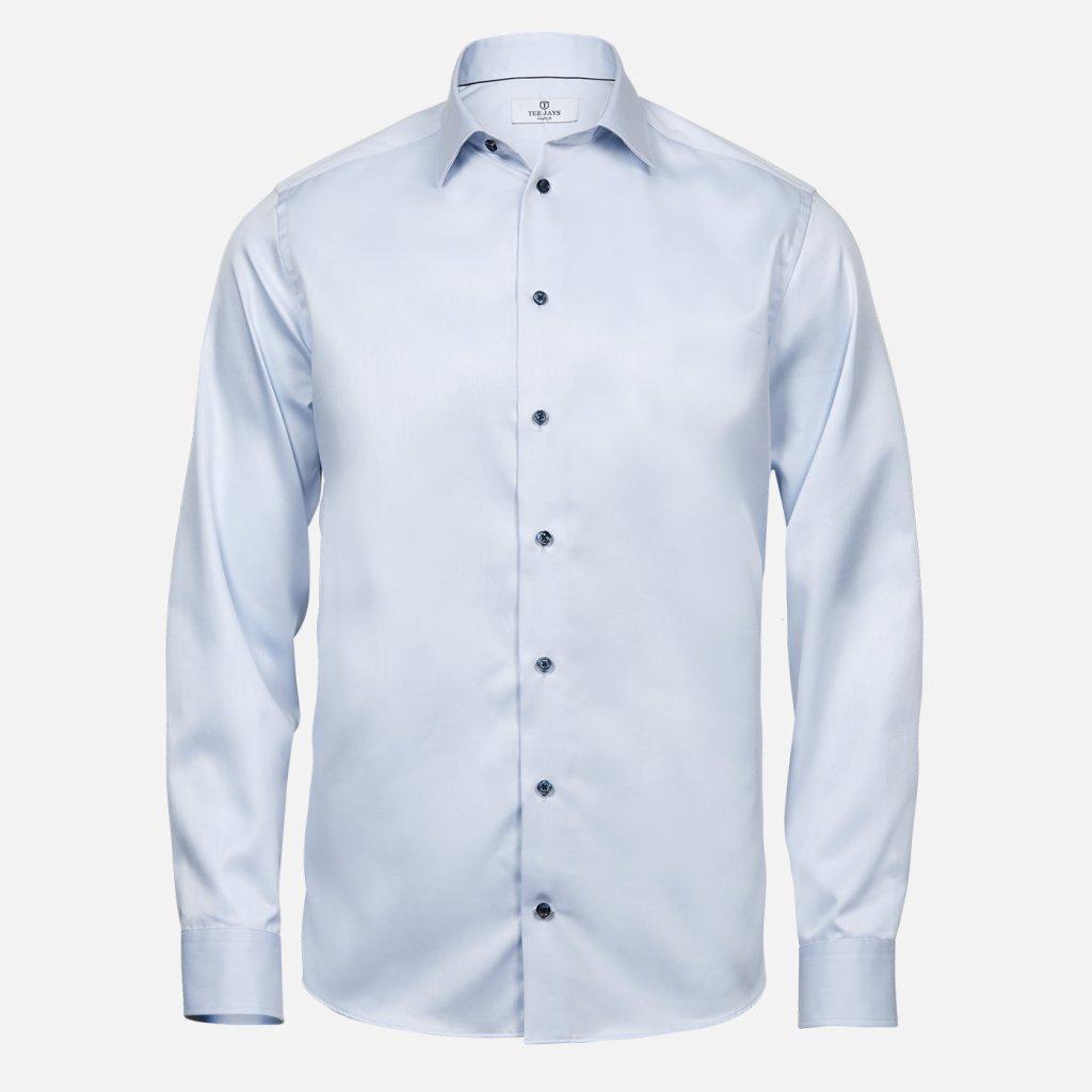 Modrá košeľa Regular s modrými gombíkmi