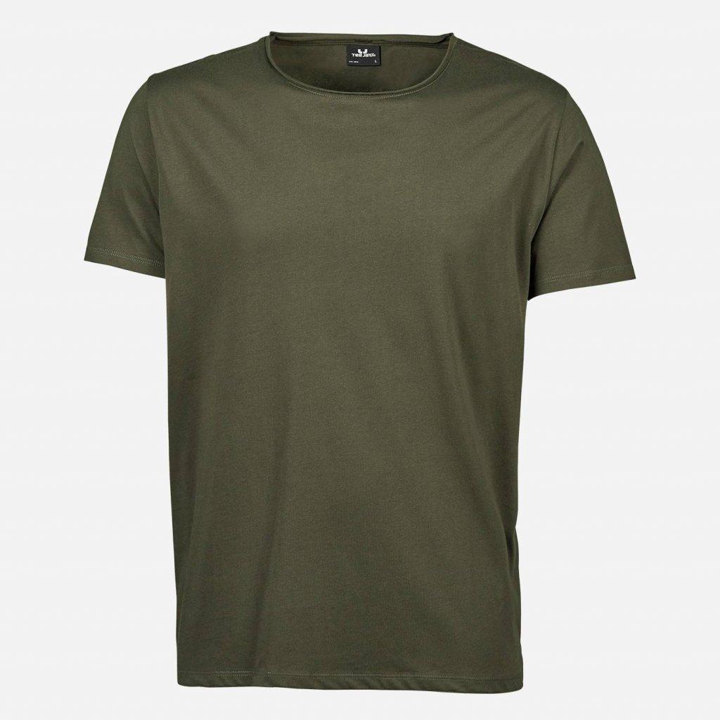 Olivové raw tričko
