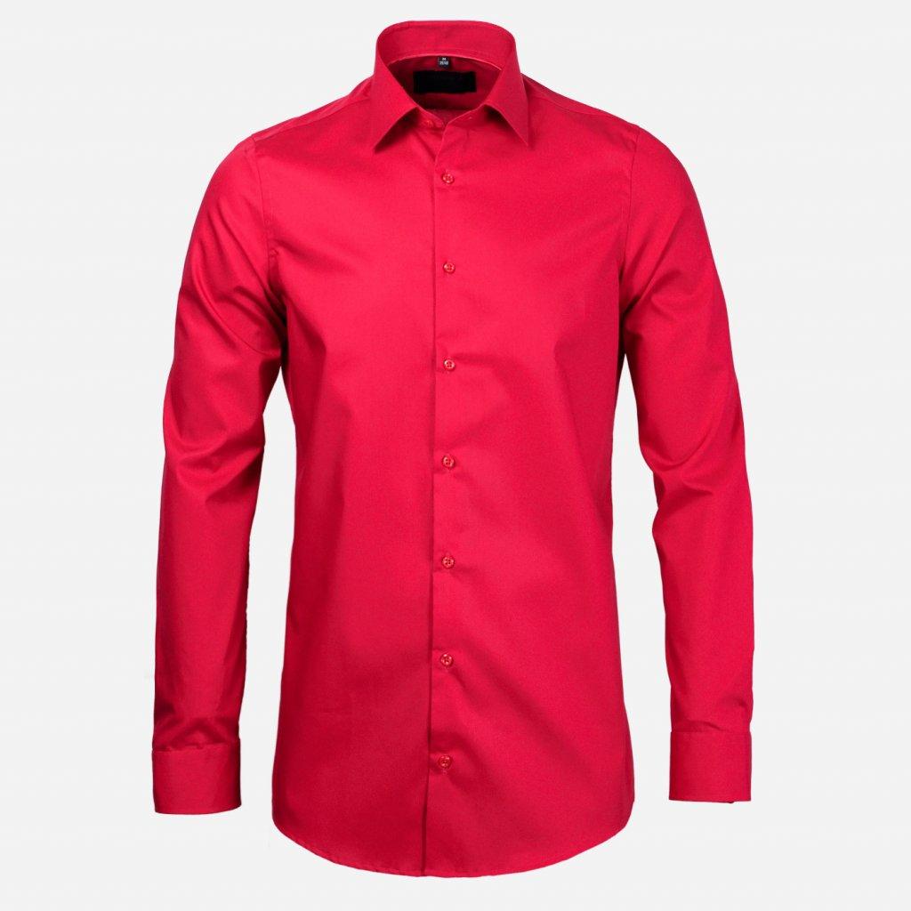 Červená pánska košeľa