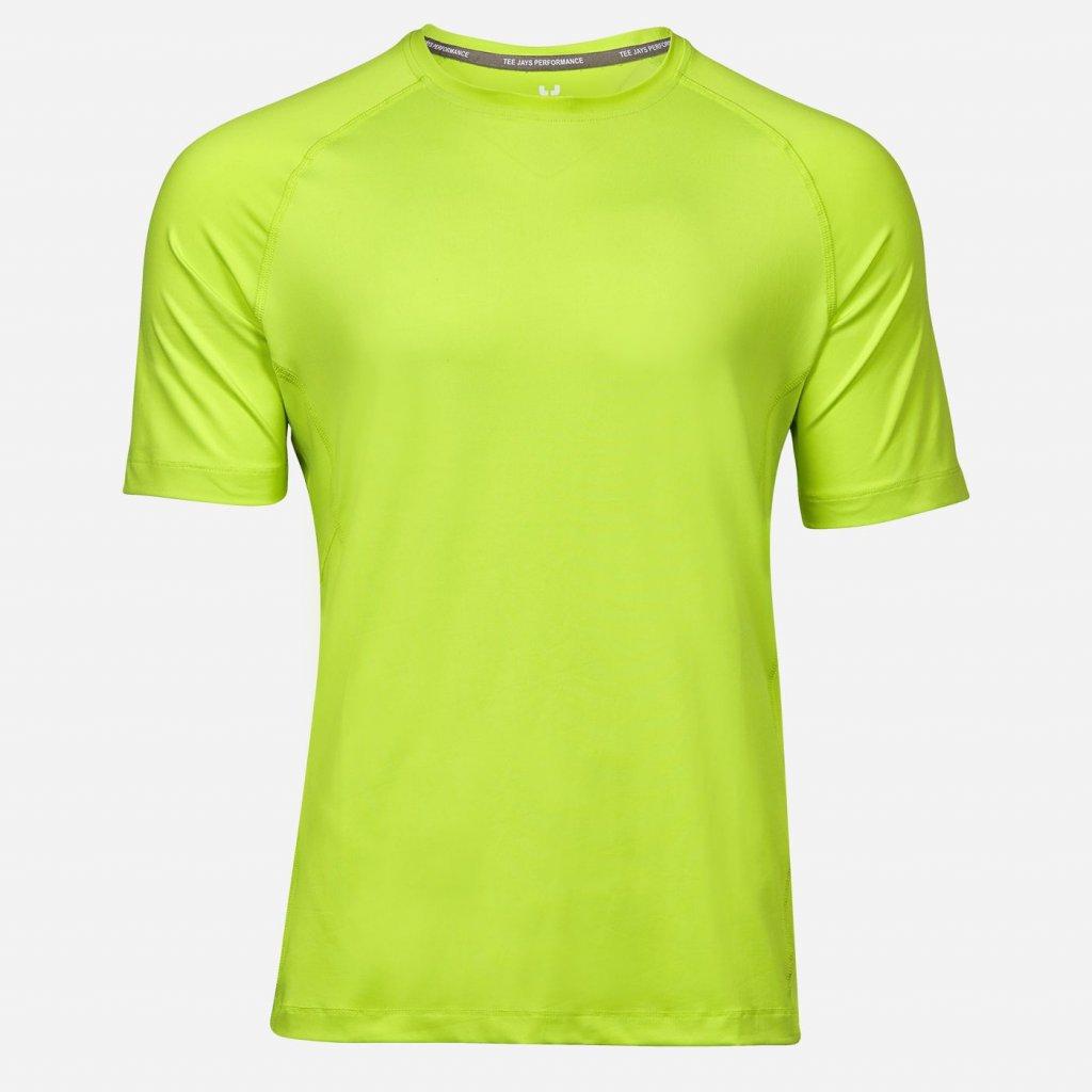 Limetkové športové pánske tričko