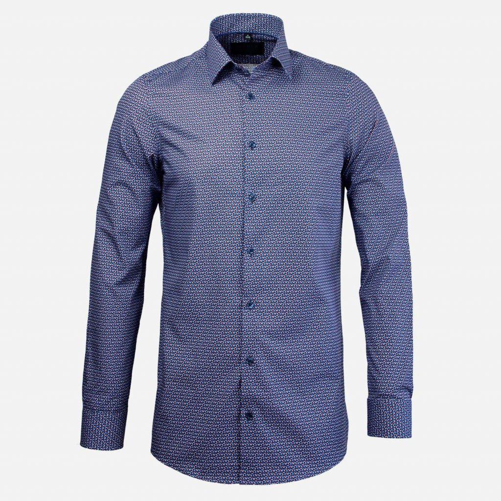 Vzorovaná body fit košeľa