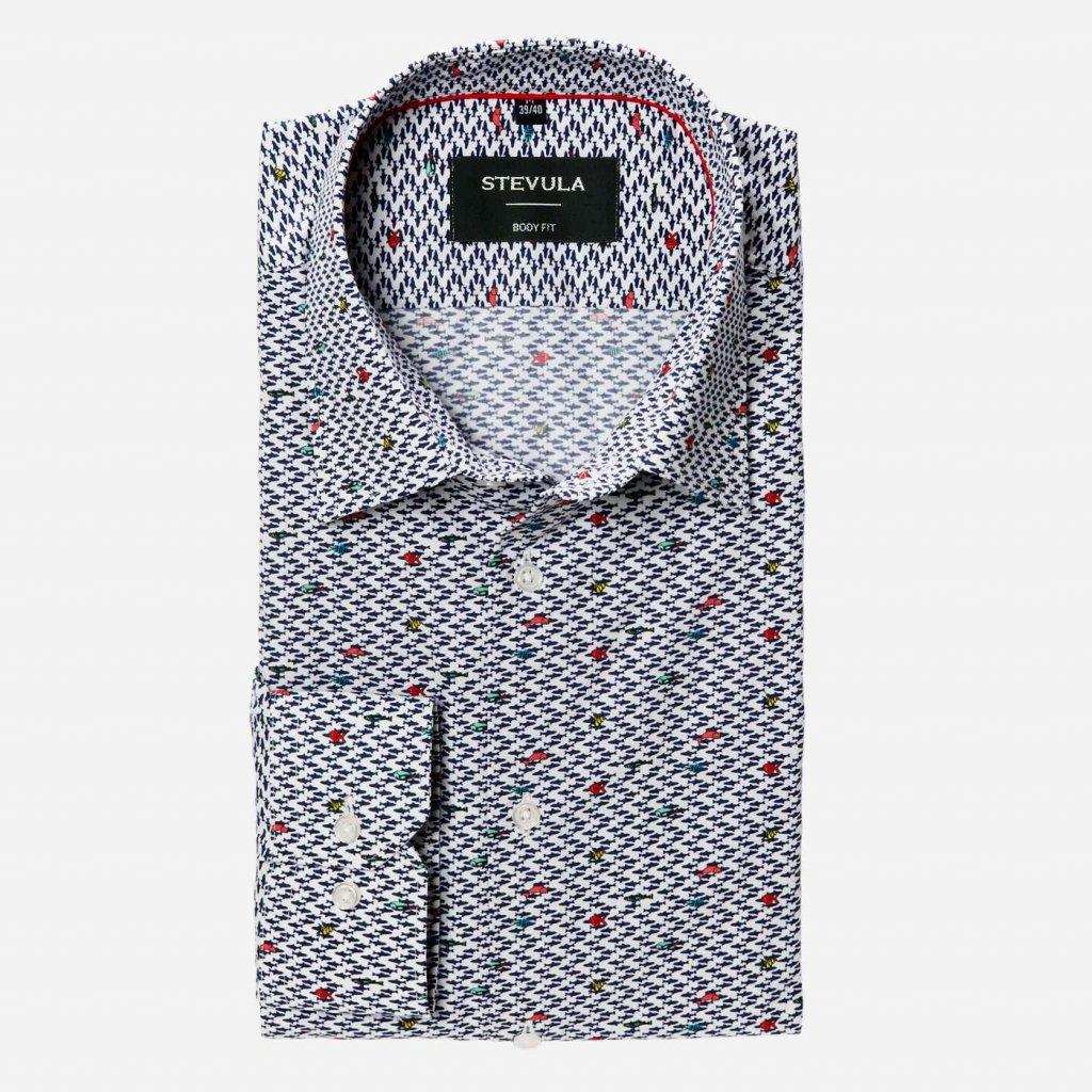 Pánska košeľa s printovým vzorom, Body fit