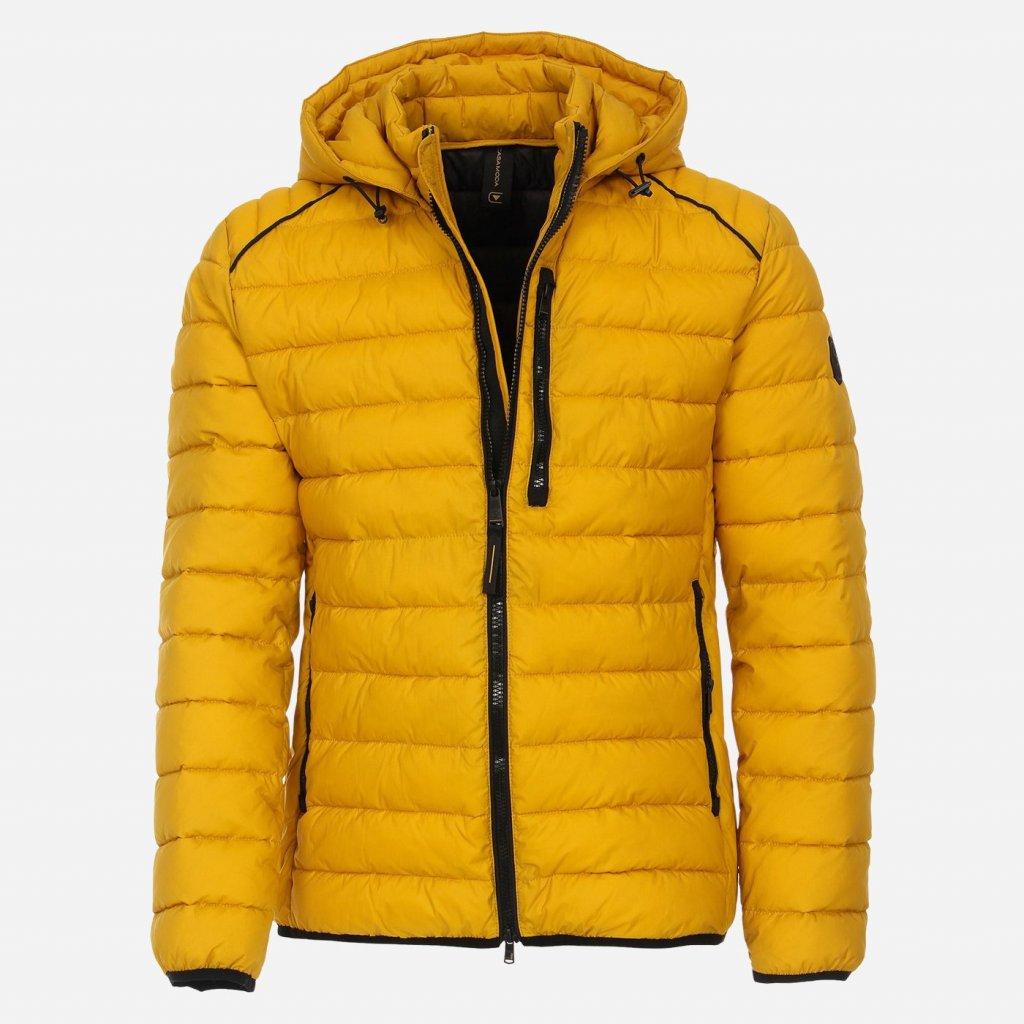 Žltá prešívaná bunda