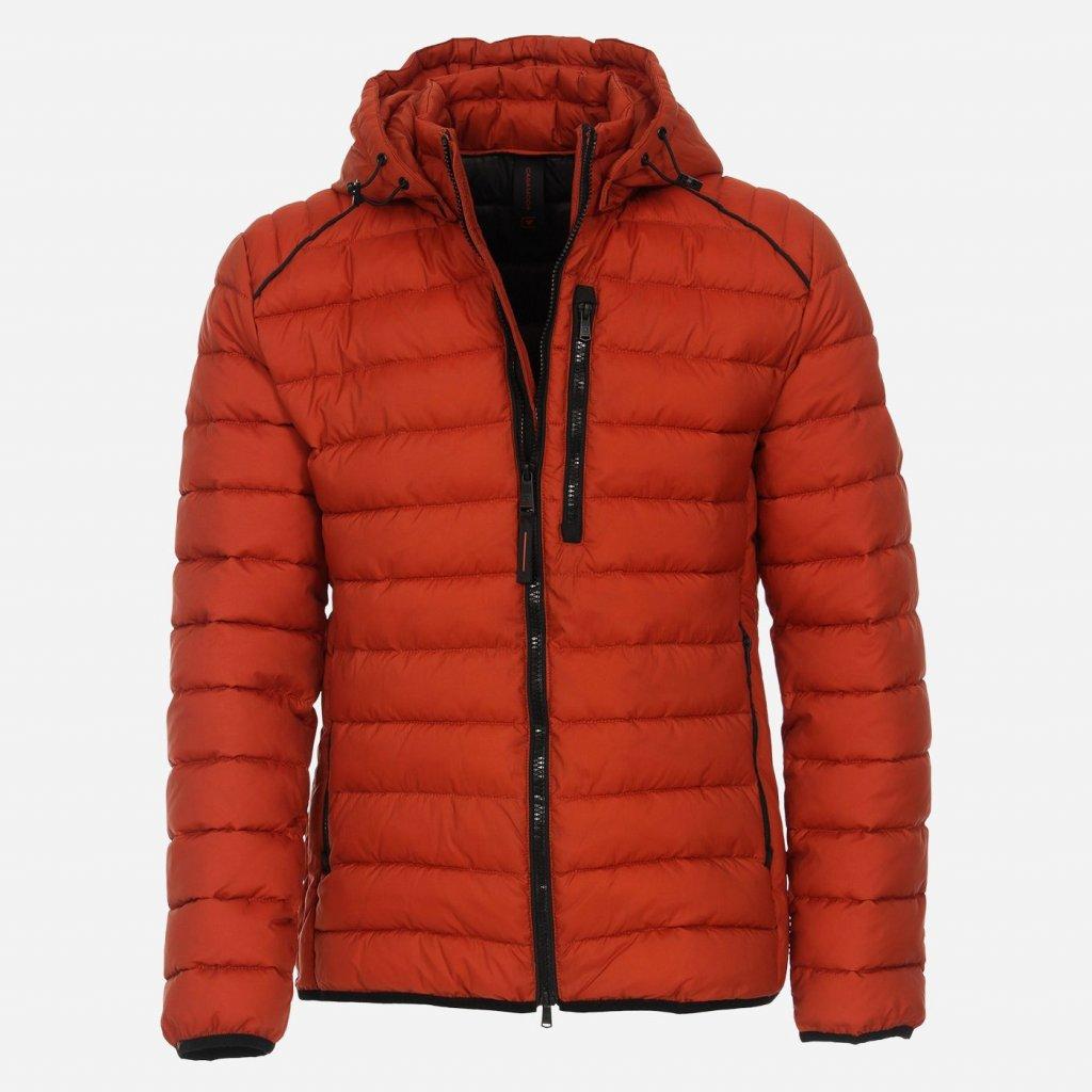 Oranžová prešívaná bunda