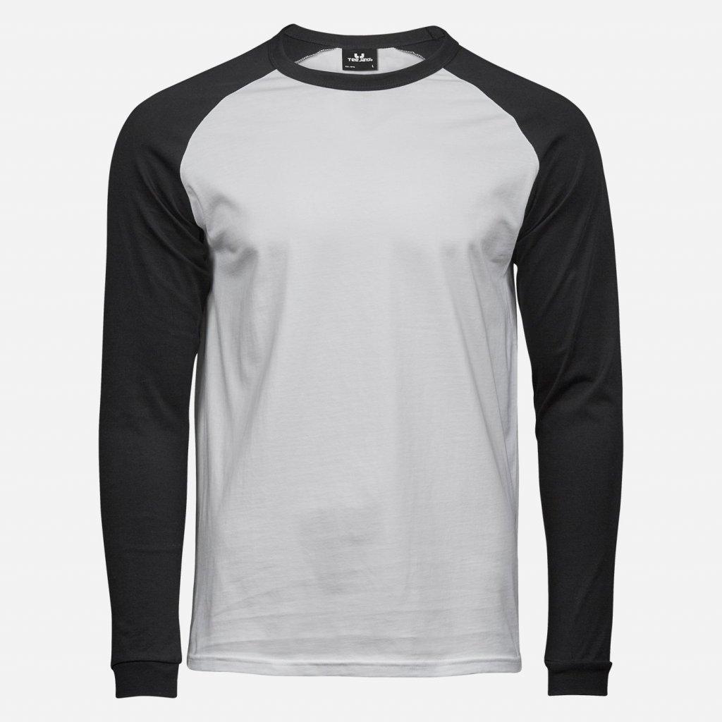 Čierno biele tričko s dlhým rukávom