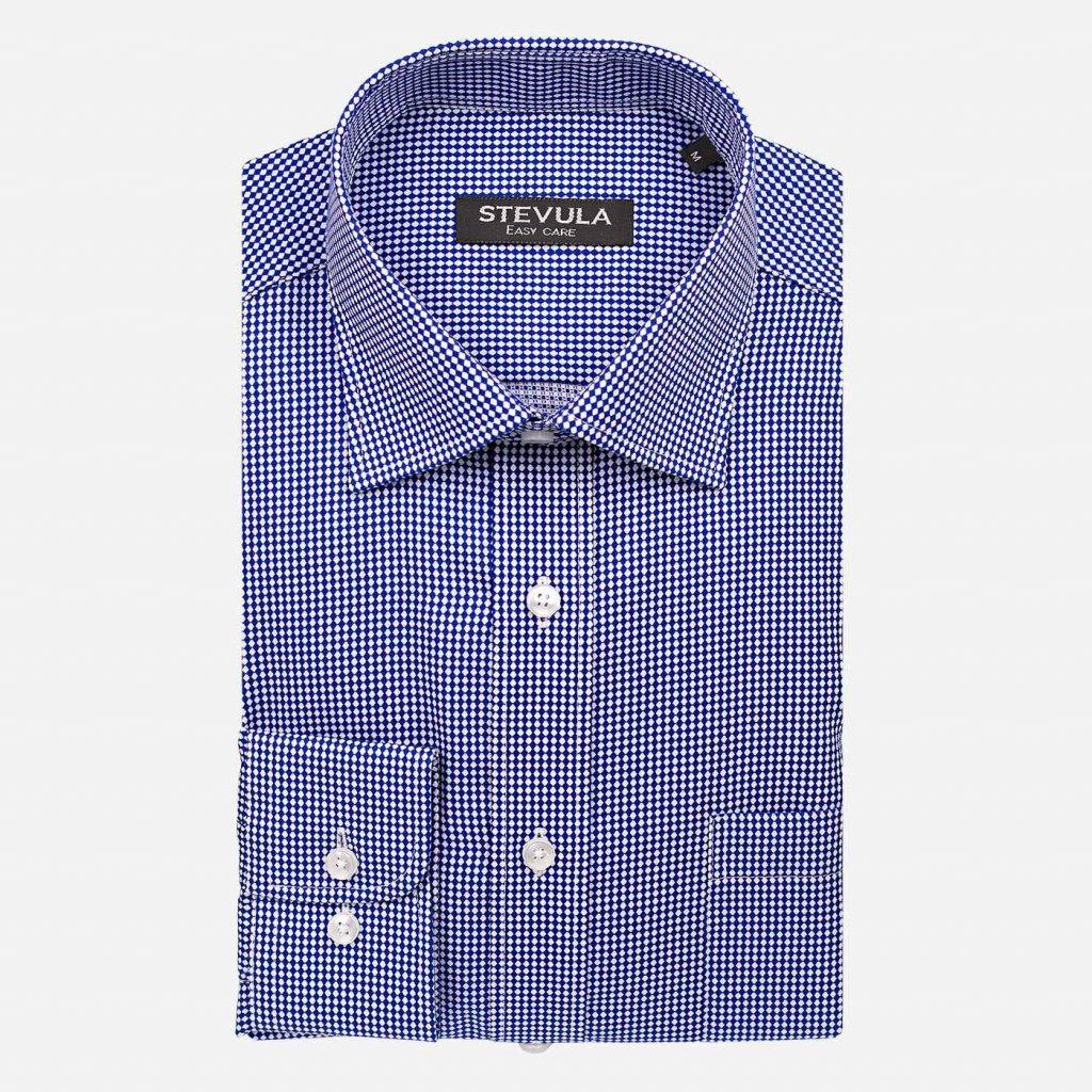 Modro-biela pánska košeľa, Regular fit