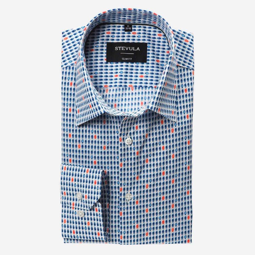 Pánska košeľa so vzorom, Slim fit