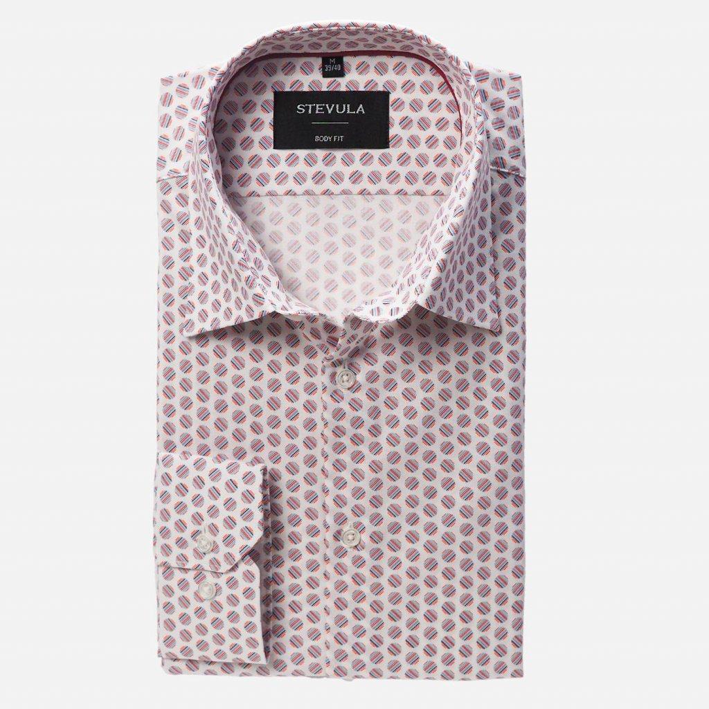 Farebná vzorovaná košeľa, Body fit