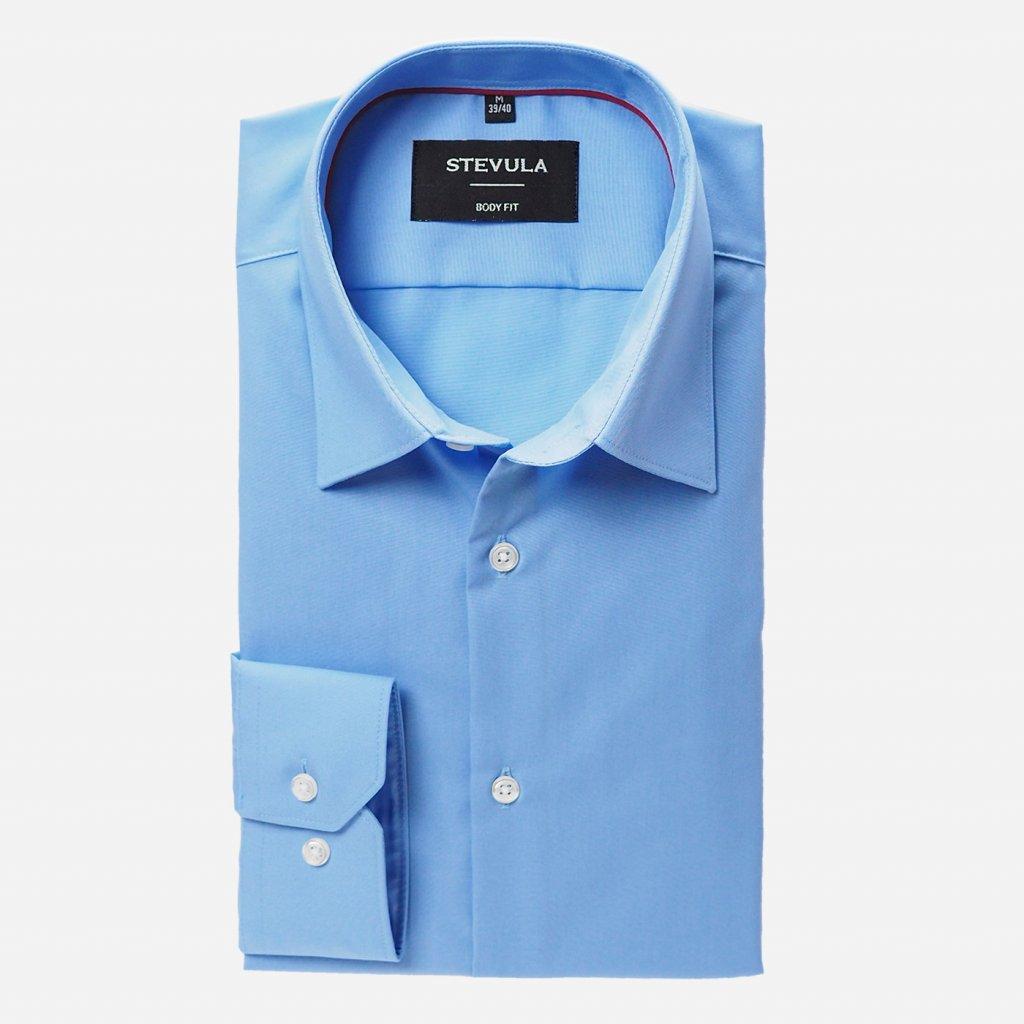 Modrá pánska košeľa, Body fit