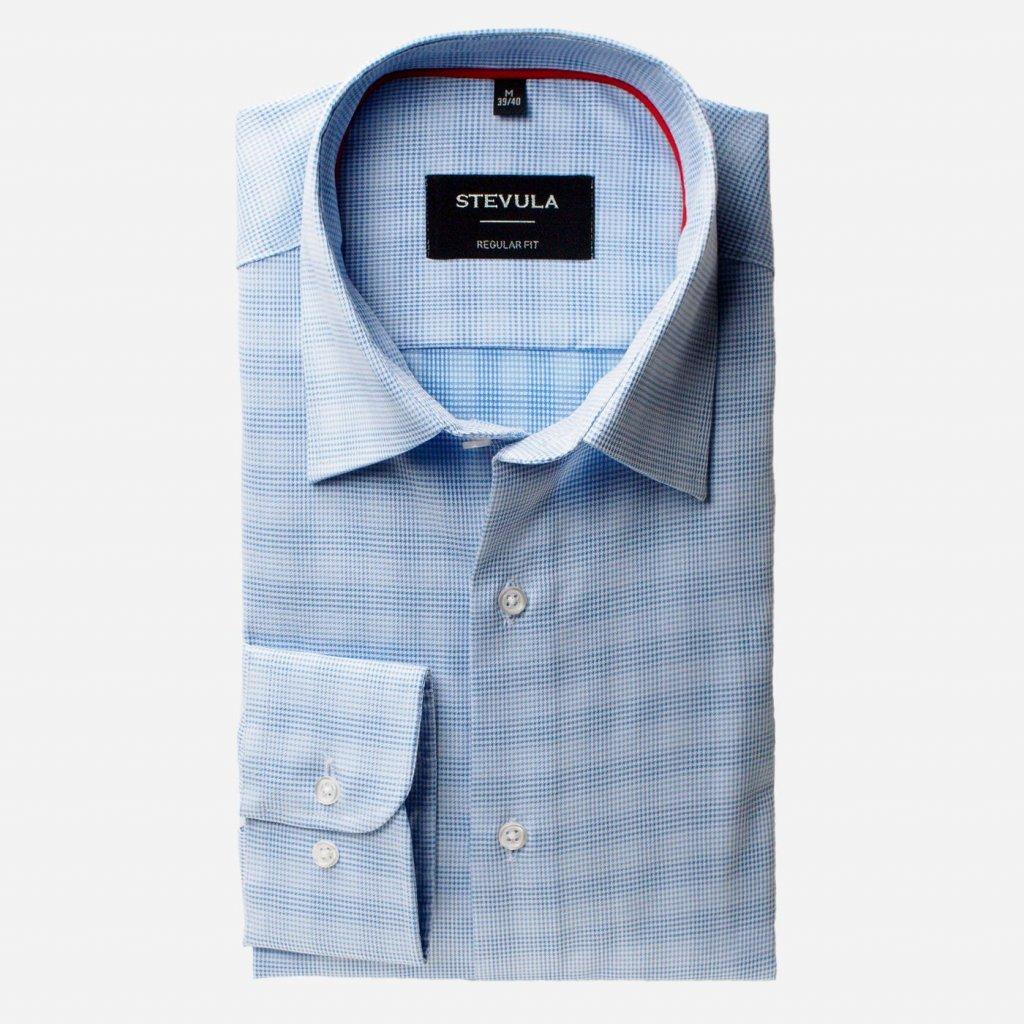 Modro-biela košeľa so vzorom, Regular fit
