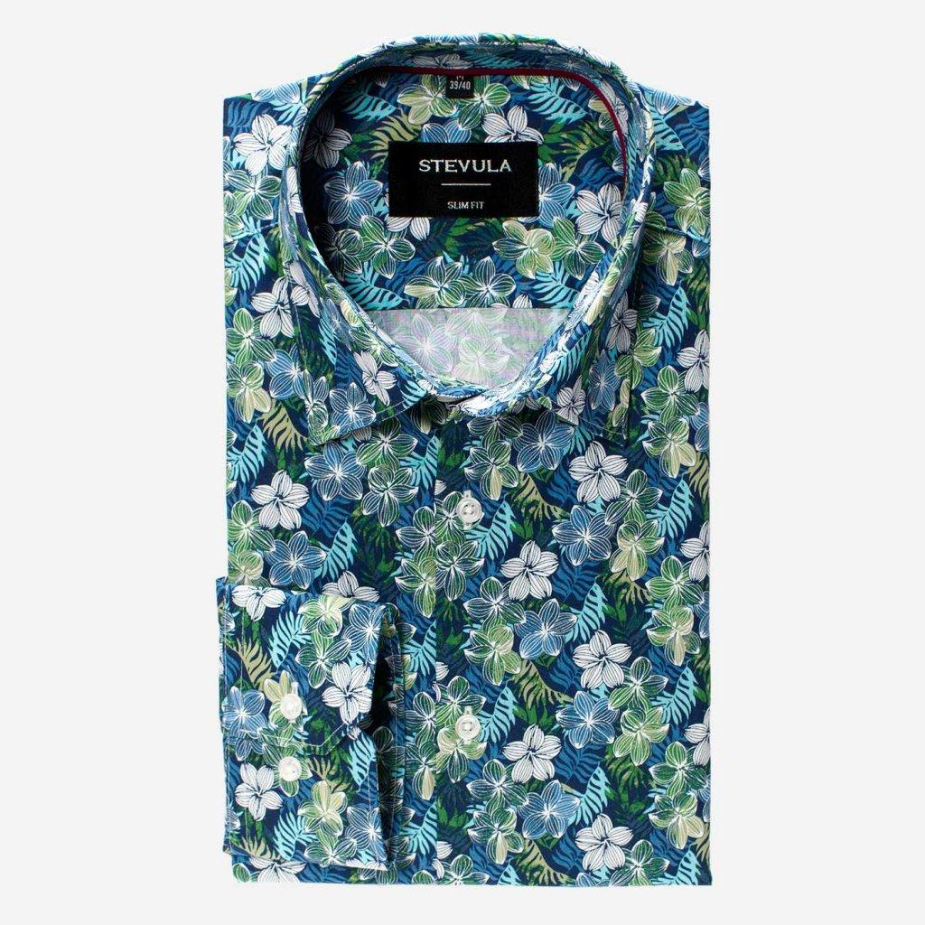 Popelínová pánska košeľa, Slim fit