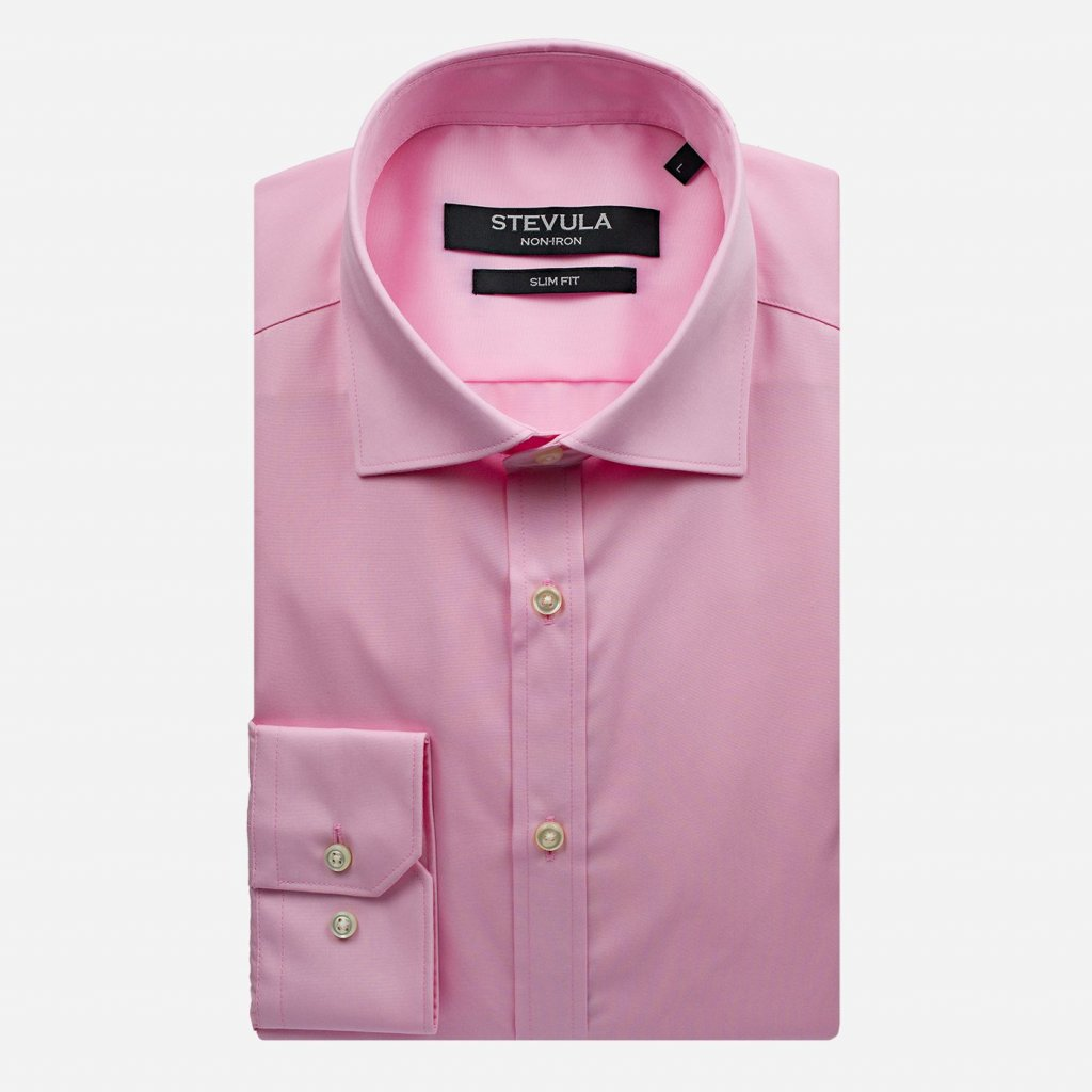 Staroružová pánska košeľa, Slim fit