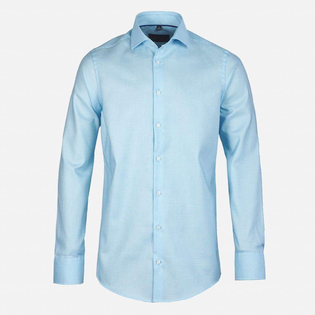 Tyrkysová pánska košeľa, Slim fit