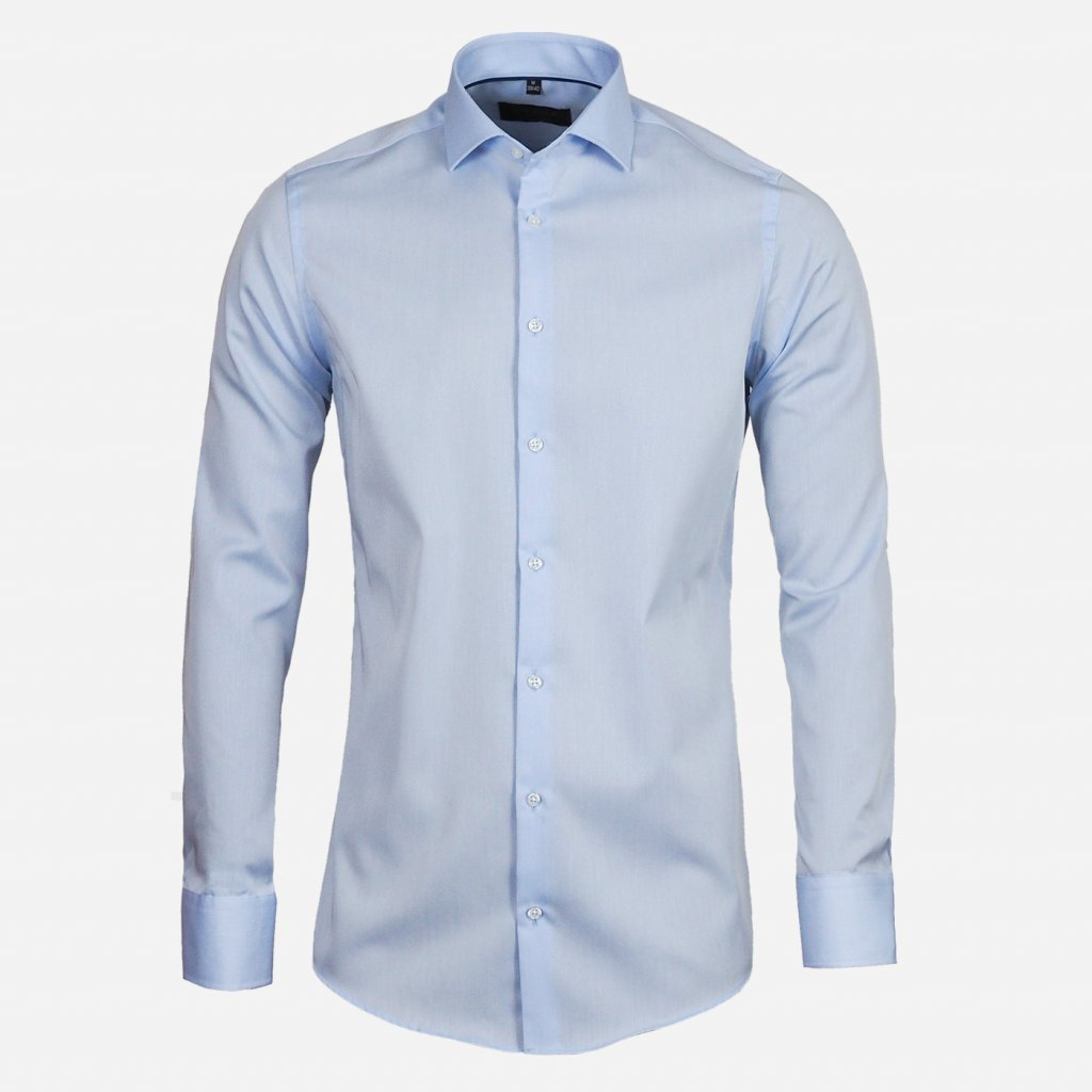 Svetlomodrá pánska košeľa, Slim fit
