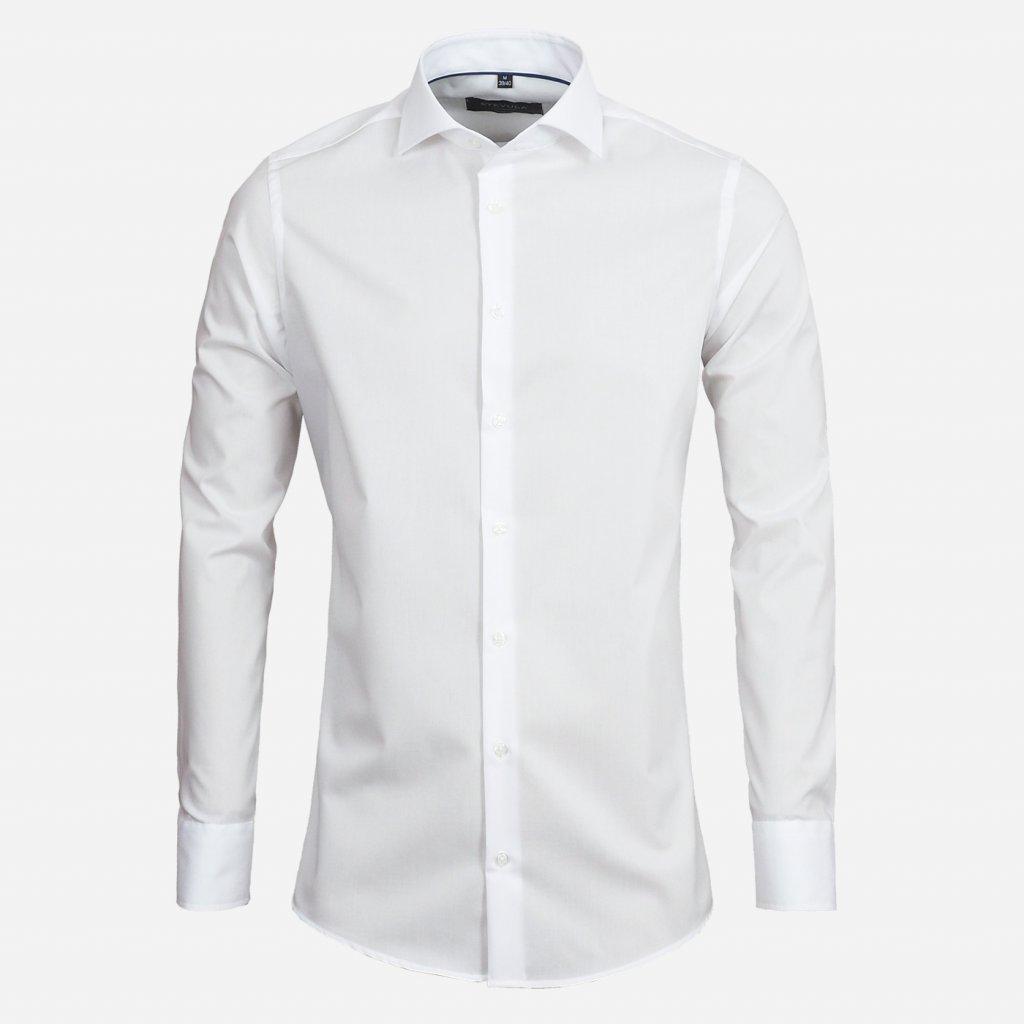 Biela pánska košeľa, Slim fit