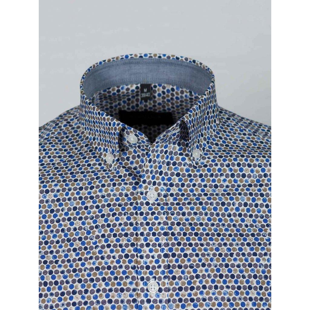 Vzorovaná pánska košeľa, Slim fit