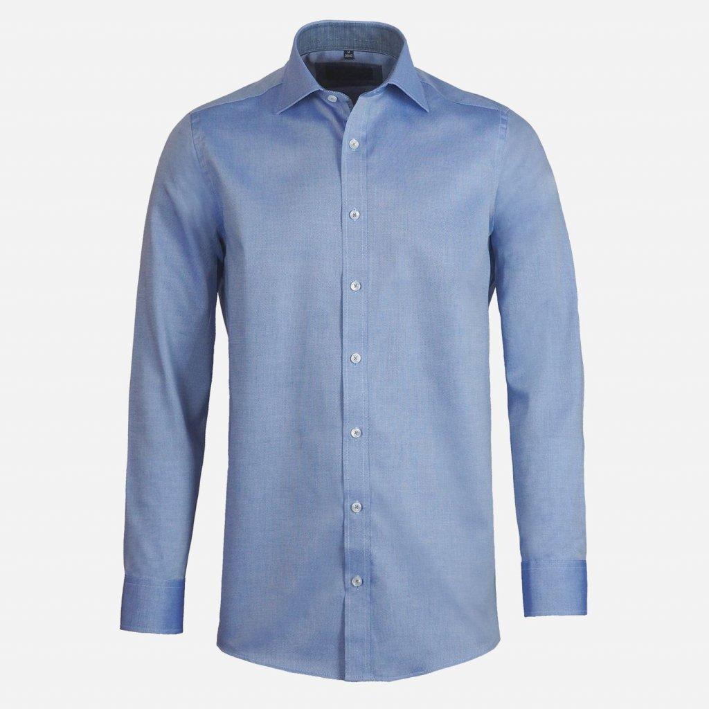 Modrá štruktúrovaná košeľa, Regular fit