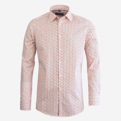 Pánska košeľa s micro print vzorom, Slim fit