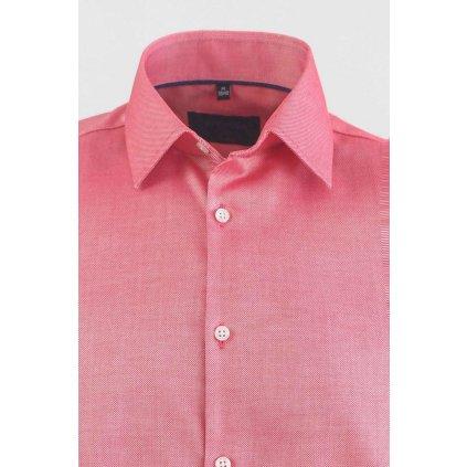 Červená pánska košeľa so štruktúrou, Slim fit
