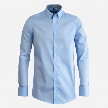 Modrá pánska košeľa, Slim fit