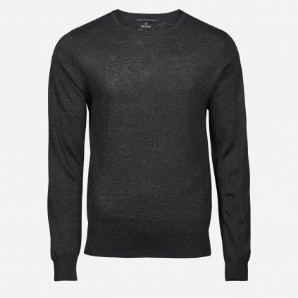 Tmavosivý merino sveter