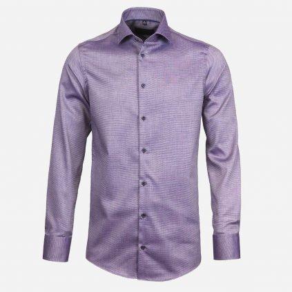 Fialová vzorovaná košeľa