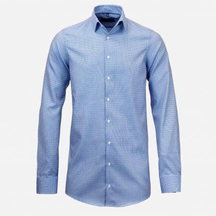 Modrá košeľa s predĺženým rukávom