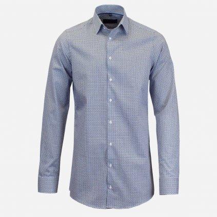 Vzorovaná pánska košeľa, predĺžené rukávy