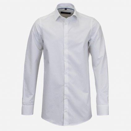 Biela pánska košeľa s predĺženým rukávom
