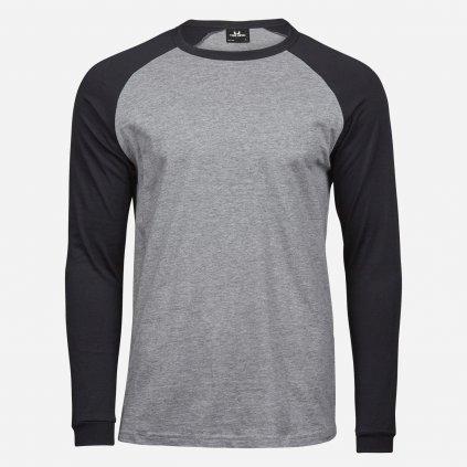 Čierno šedé pánske tričko