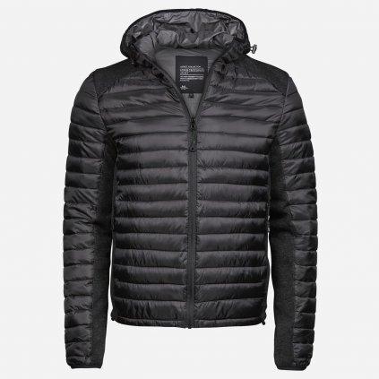 Čierna kombinovaná bunda