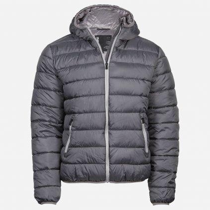 Sivá prešívaná bunda