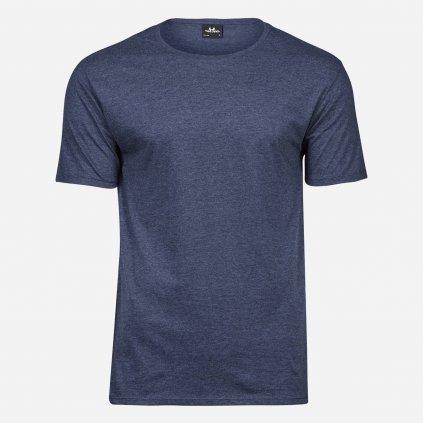Denimovo modré melírované tričko