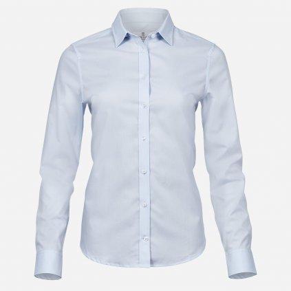 Modrá dámska košeľa