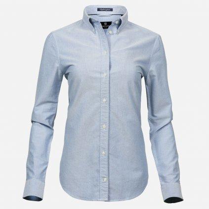 Modrá dámska košeľa oxford