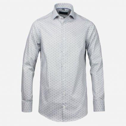 Svetlá pánska košeľa so vzorom