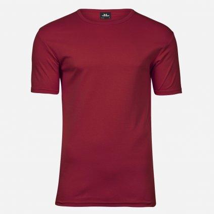 Červené extra slim fit tričko