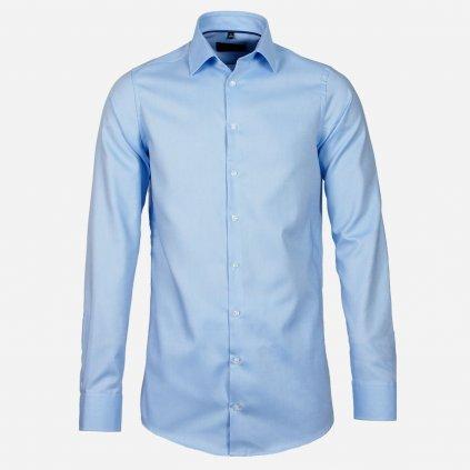 Modrá košeľa s predĺženými rukávmi