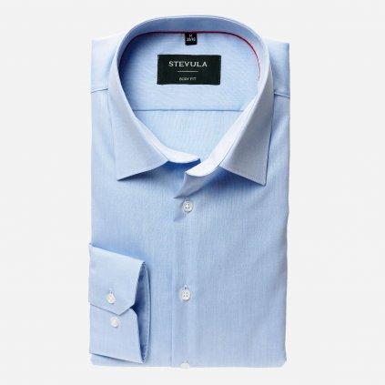 Svetlomodrá pánska košeľa z popelínu, Body fit