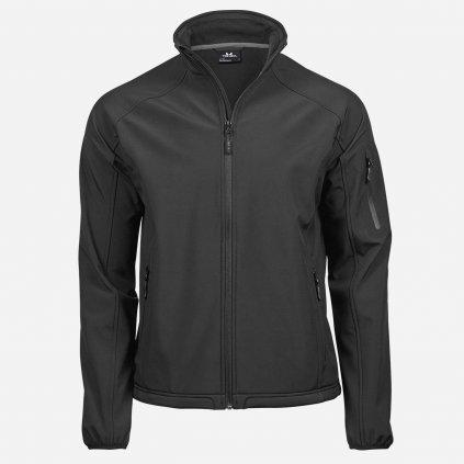 Čierna softshelová bunda