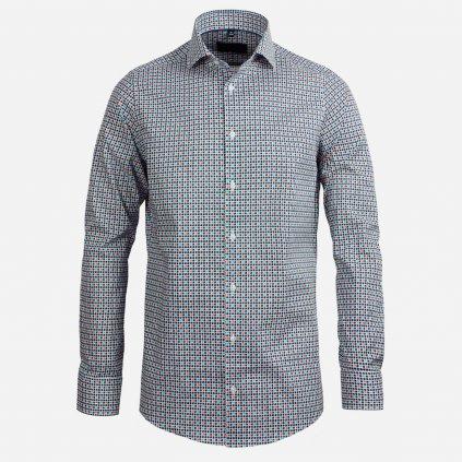 Slim fit košeľa so vzorom