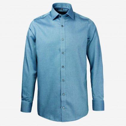 Tyrkysová pánska košeľa, Regular fit