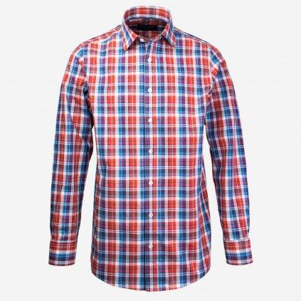 Kockovaná pánska košeľa