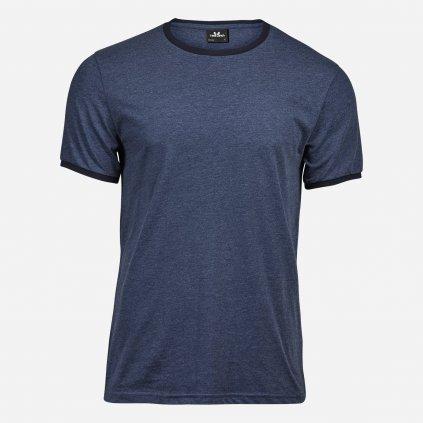 Tmavomodré melírované tričko