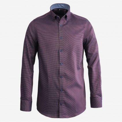 Bordovo čierna pánska košeľa