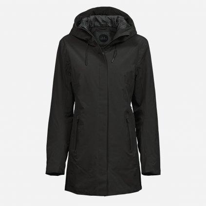 Čierny nepremokavý kabát