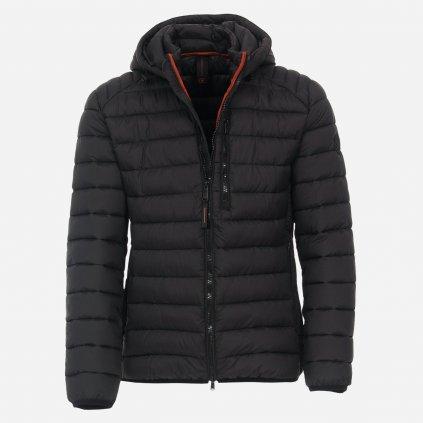 Čierna prešívaná bunda
