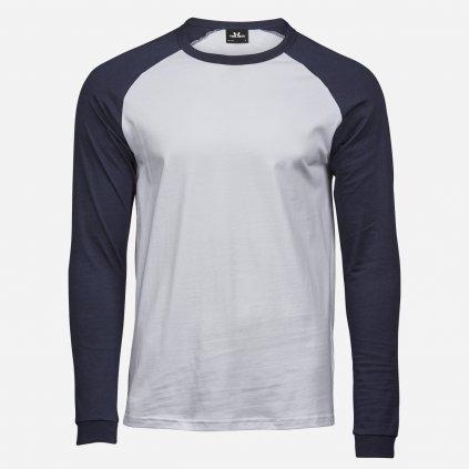 Modro biele tričko s dlhým rukávom