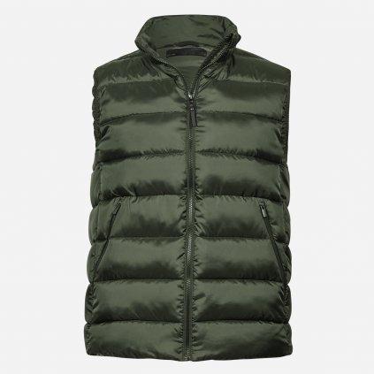 Zelená prešívaná vesta